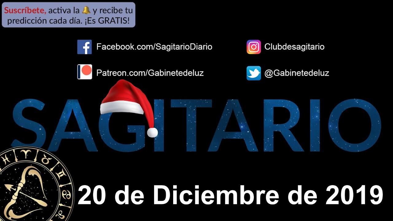 Horóscopo Diario Sagitario 20 De Diciembre De 2019