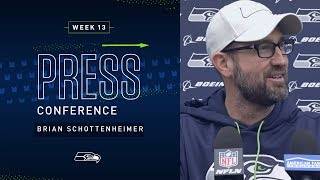 Offensive Coordinator Brian Schottenheimer Week 13 Press Conference | 2019 Seattle Seahawks