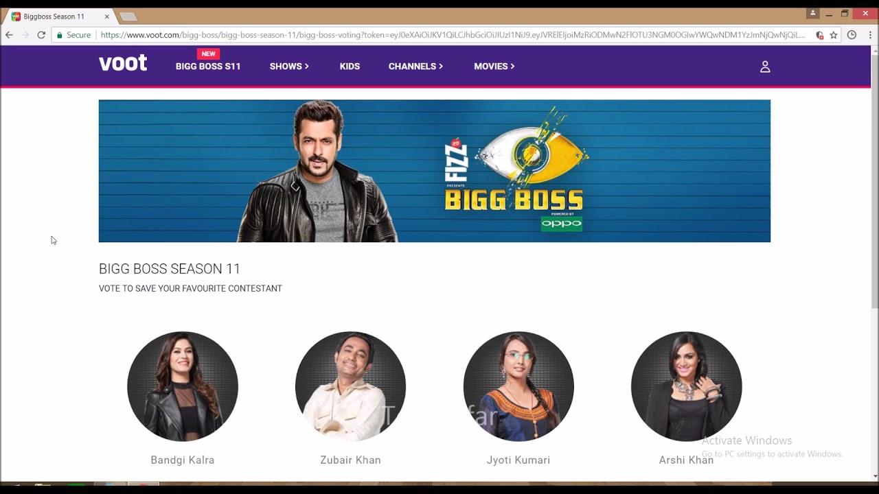 Bigg Boss 11 Vote On Voot Com Or Voot App Here Is How