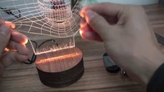 Wood LED Base for Acrylic Plate 3D Lamp