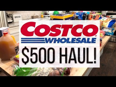 $500 October Costco Haul with Prices! Using my Annual Rebate Check