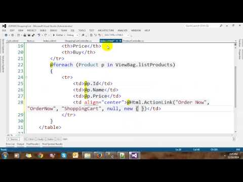 Building Shopping Cart with ASP.NET MVC and Entity Framework