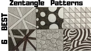zentangle patterns easy draw drawing doodle beginners tutorial