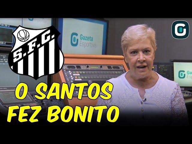 """O Santos fez bonito"", diz Regiani Ritter (08/03/19)"