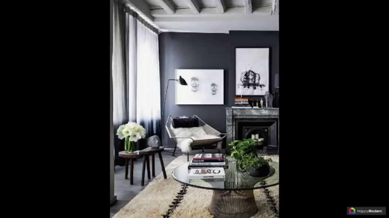 дизайн черно белой гостиной 44 вариантов Youtube