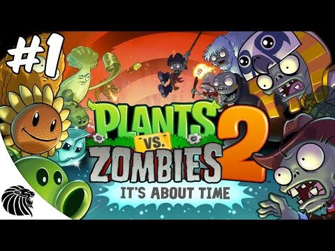 Plants vs. Zombies 2 - Gameplay #1 -  EGITO ANTIGO 1-3 Android iOS [PT-BR]