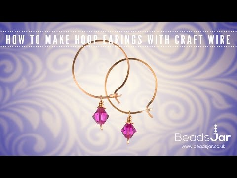 How to make hoop earrings with craft wire | Swarovski