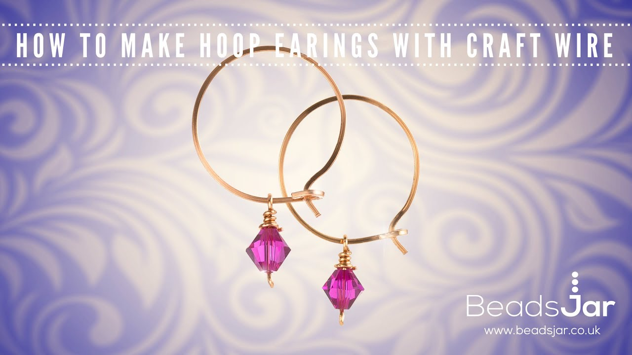 How to make hoop earrings with craft wire | Swarovski - YouTube