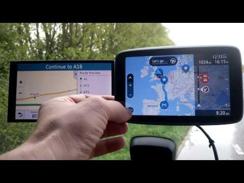 TomTom GO 6200 vs Garmin Drivesmart 61 Route planning test.