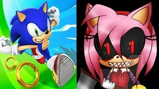 Sonic Dash vs SONIC EXE Amy Rose