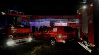 Lubuskie - Pożar fermy drobiu w Iłowej 27.11.2012