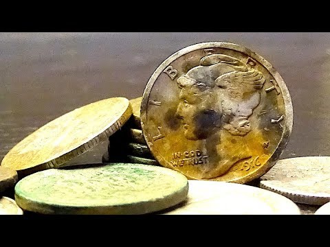 Metal Detecting Finds Silver Spill At An Old House Door Knocking For Old Coins