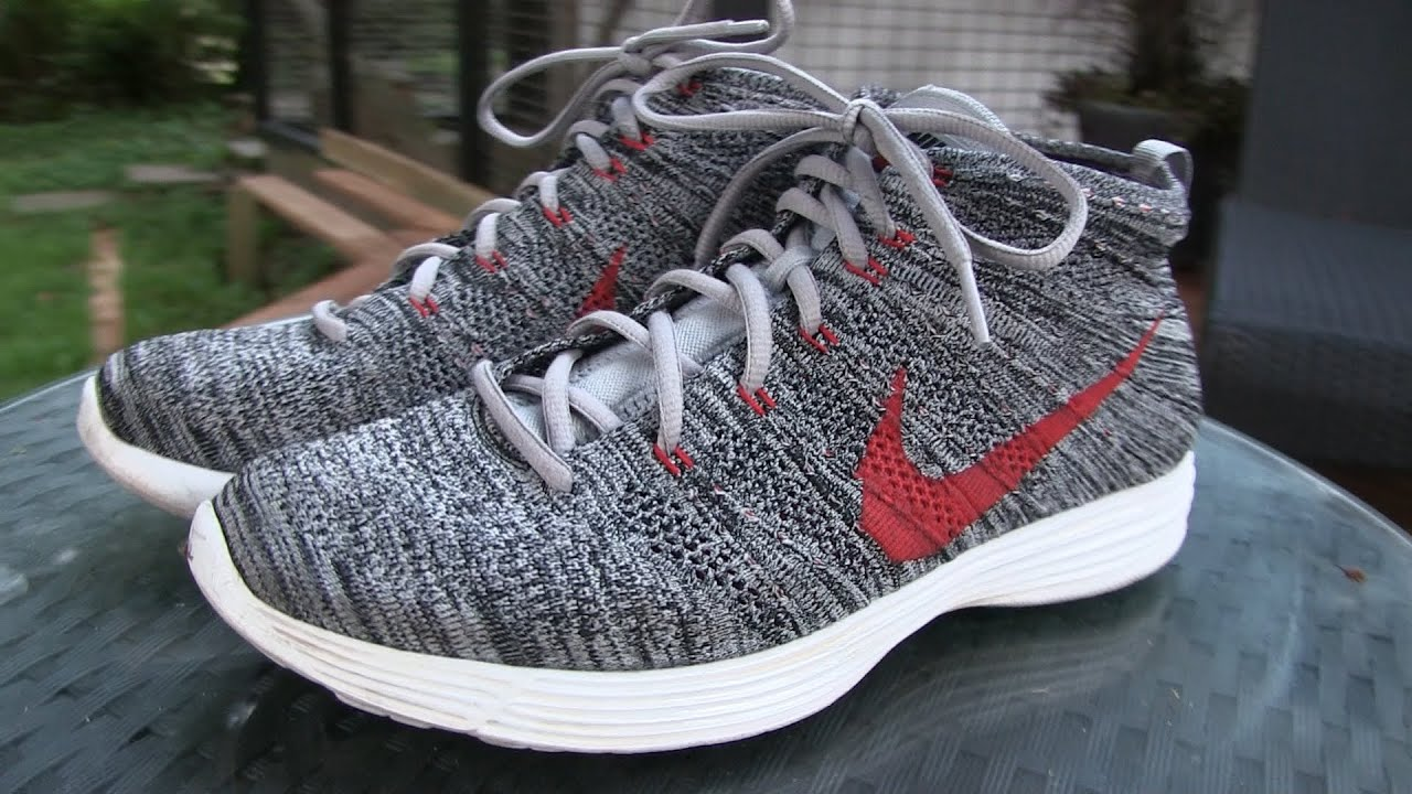 more photos b174e 359d4 Nike - Lunar Flyknit Chukka (Wolf Grey) - Quick Review + On Feet - YouTube