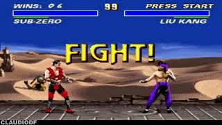 Ultimate Mortal Kombat 3 (hack) SUB-ZERO - Very Hard (SNES)