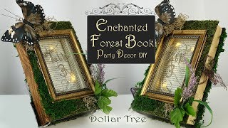 Enchanted Fairy Book DIY / Woodland Party Decor / Dollar Tree Party DIY