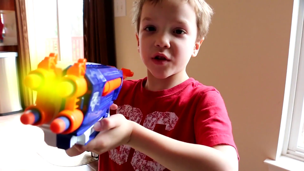 Toys For Twins : Nerf war the dominator youtube