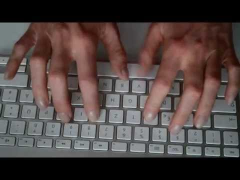 ASMR - typing on an apple keyboard / & cleaning with cottan sticks --  relaxing sounds