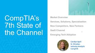 Annual SaaSMAX  CompTIA State of the Channel   for the SaaS & Cloud Industry