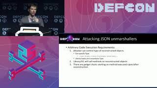 DEF CON 25 Conference - Alvaro Muñoz, Alexandr Mirosh - Friday the 13th JSON attacks