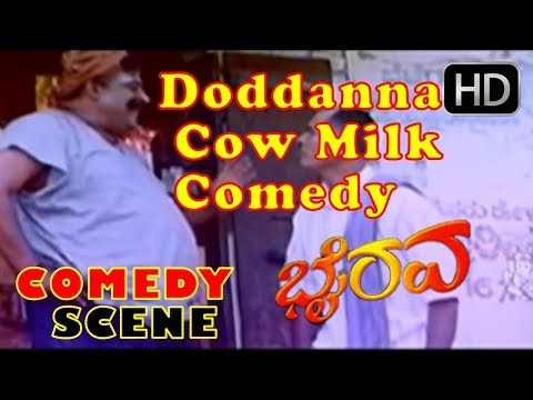 Doddanna Cow Milk Comedy Scenes | Kannada...