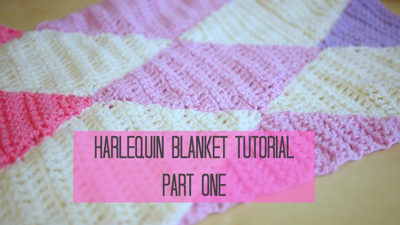 Crochet harlequin diamond blanket part 1 bella coco youtube dt1010fo