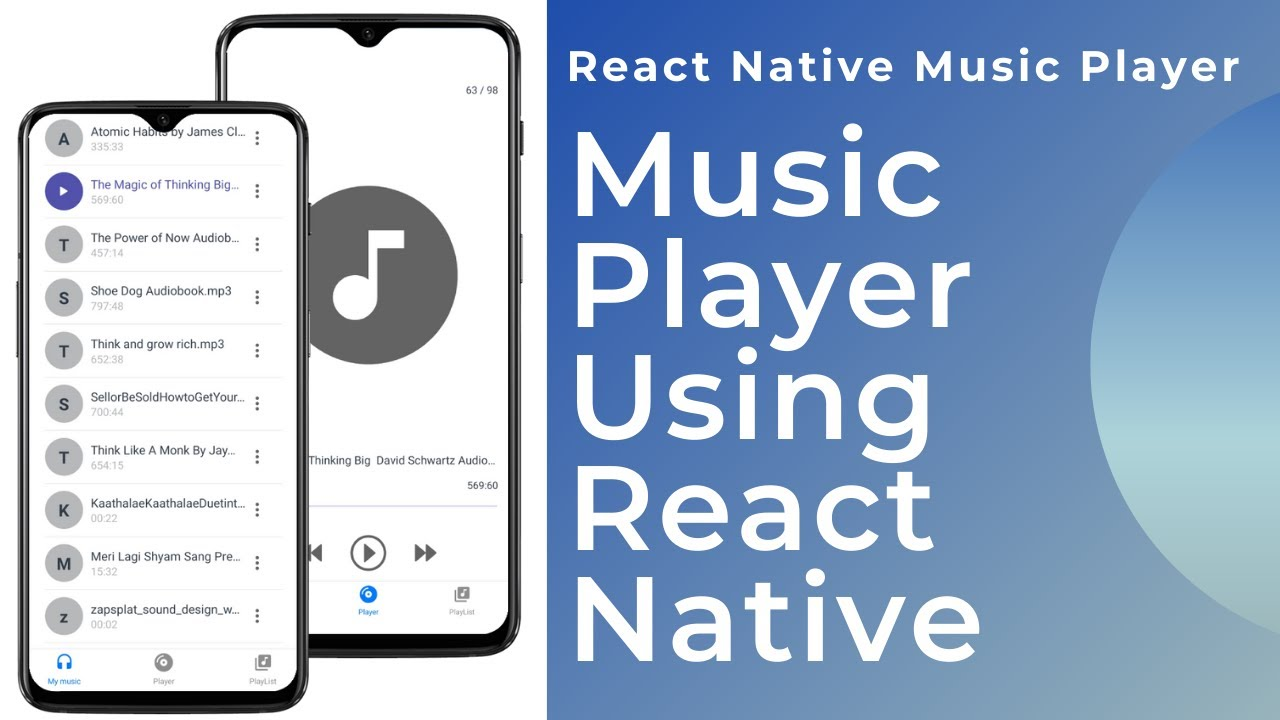 Music Player With Expo React Native - Play Audio With Controller - #18