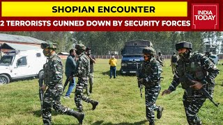 Two Terrorists Killed In Encounter With Security Forces In Jammu-Kashmir's Shopian