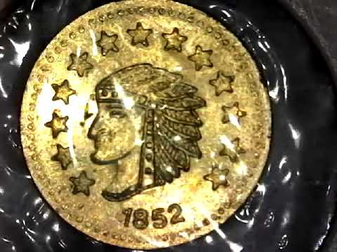 1852 One Half Dollar California Gold Coin
