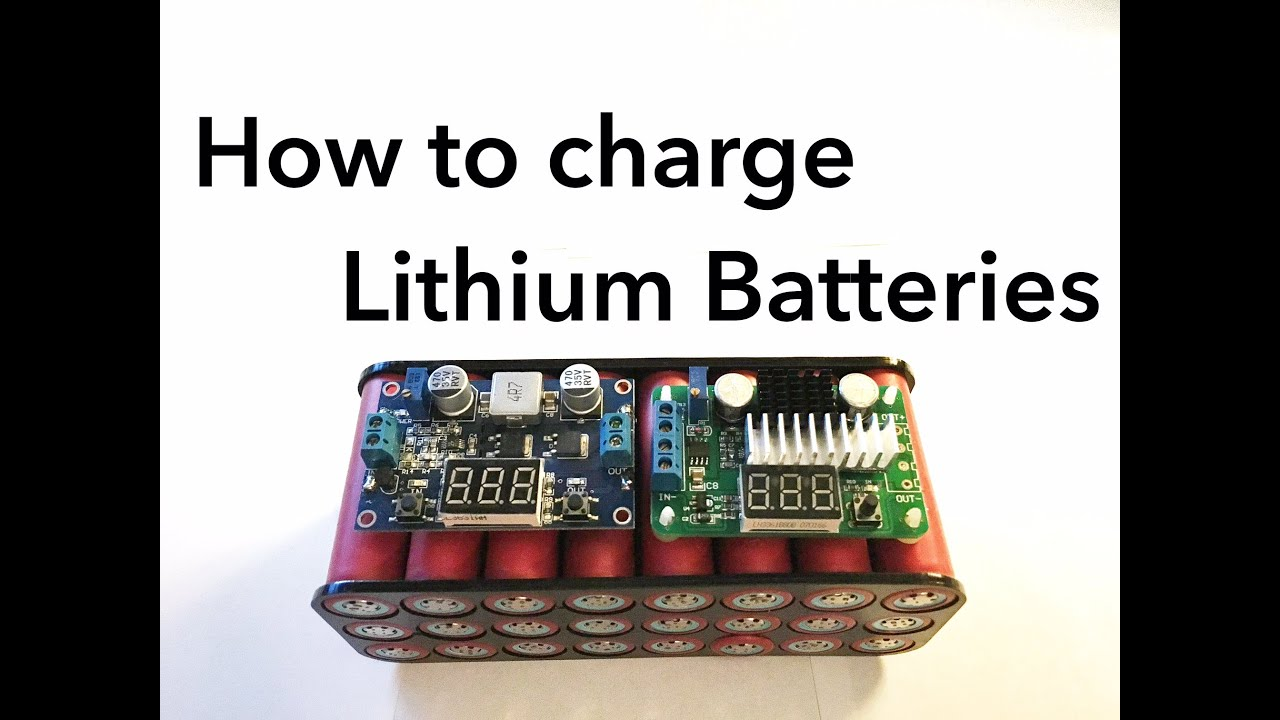 How To Charge Lithium Batteries Youtube