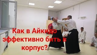 Aikido training effective punches to the body