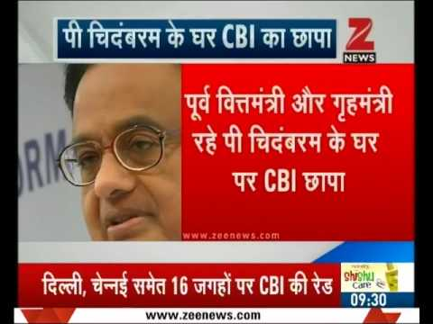 Former Finance minister P. Chidambaram's residences raided by CBI