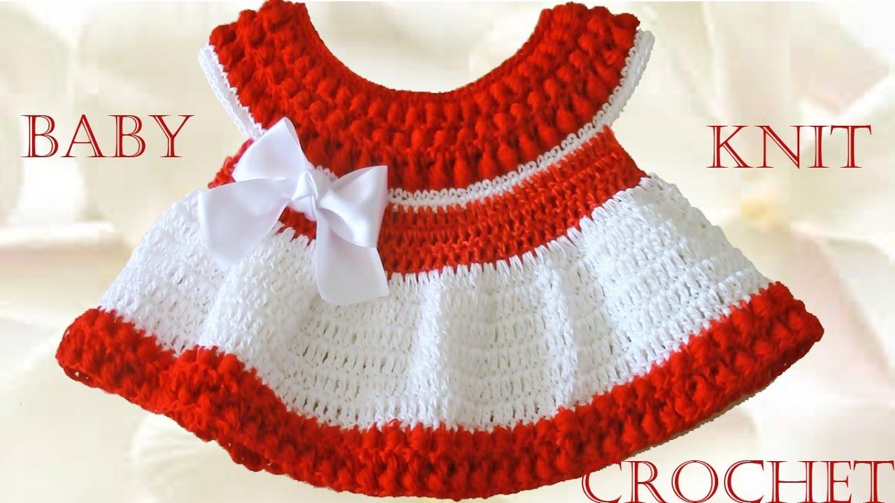 Vestido A Crochet Para Bebe Learn Crochet Knit