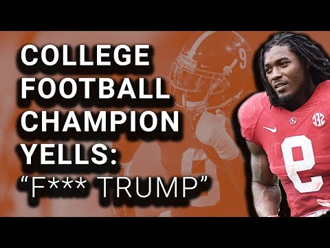 """Football Player Yells """"F--- Trump"""" Before Title Game"""