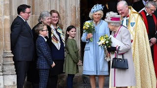The Queen and Duchess of Cornwall attend rare joint engagement at Westminster Abbey