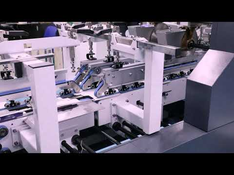 Our high performance Heidelberg B1 folding carton gluing machine in action at our Dundrum Factory.