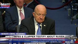 WATCH: Attendees LAUGH as Clapper Says