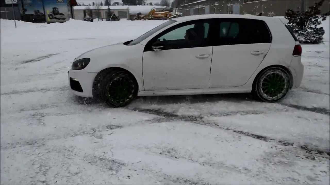 vw golf 6 r snow drift youtube. Black Bedroom Furniture Sets. Home Design Ideas