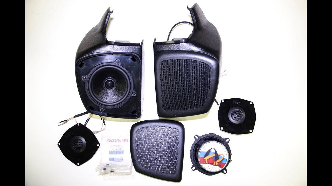 install honda gold wing 1800 2002 2015 rear music upgrade goldwing speaker pods box  [ 1280 x 720 Pixel ]
