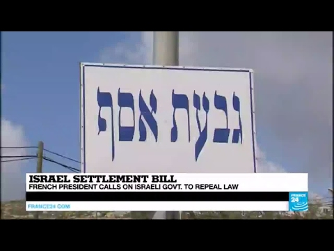 West Bank: Israeli settlement bill sparks outrage within the international community