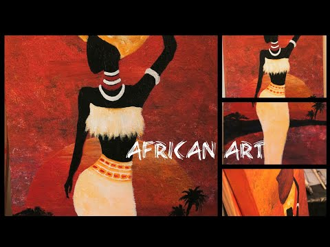 African art acrylic painting