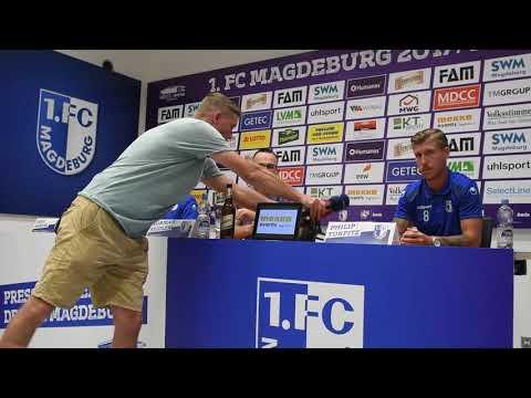 Pressekonferenz vor dem Spiel SC Preußen Münster gegen 1. FC Magdeburg