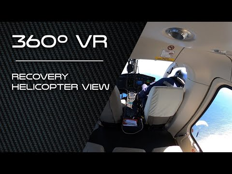 360º VR | Recovery Helicopter View - Mid Air Recovery Demo