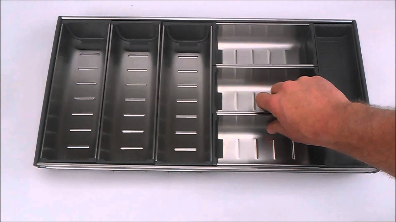 Modular stainless steel Cutlery Tray  YouTube