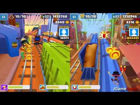 Subway Surfers Copenhagen VS Singapore iPad Gameplay for Children HD #311