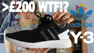 Y3 pure boost zg knit on feet review