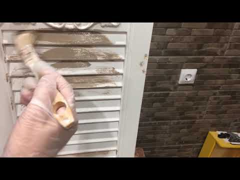 Как красить жалюзийные дверцы