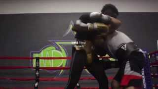 Rock Blackwell 8 Rounds Of Sparring w/A.V. (Southpaw)