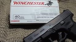 Winchester 180gr JHP ballistic gel test