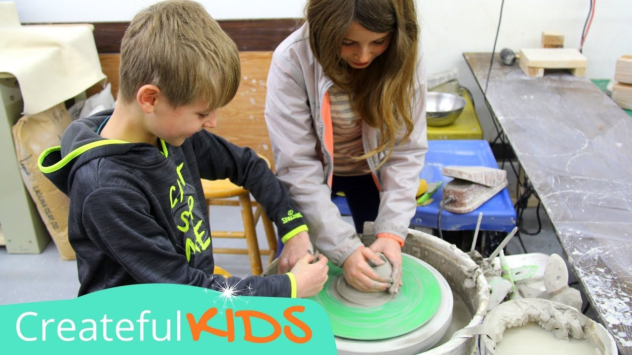 Amazing How To Use A Pottery Wheel For Kids | Pottery Lessons For Kids