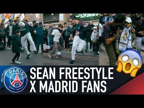 REAL MADRID FANS VS PARIS (Séan garnier + S3 Freestyle) Live!